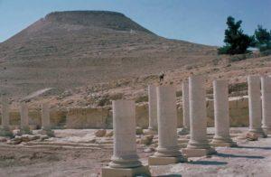 El Herodión - La fortaleza vista desde la piscina del palacio inferior